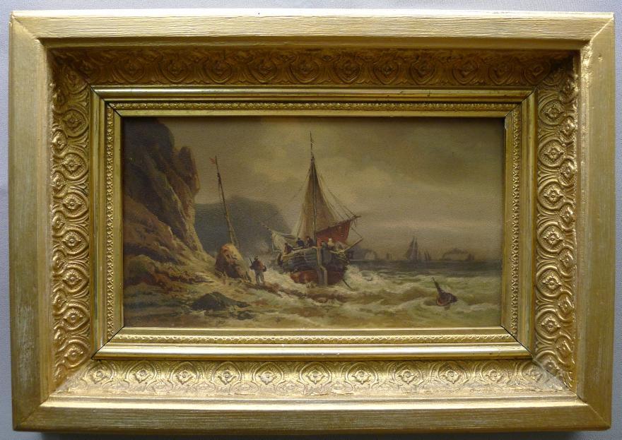 Vergoldeter Stuck-Bilderrahmen, Mitte 19. Jahrhundert