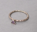 Art Deco Fingerring, 925er Sterlingsilber, mit Amethyst
